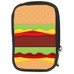 Vector Burger Time Background Compact Camera Cases by Simbadda