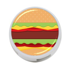 Vector Burger Time Background 4 Port Usb Hub (one Side) by Simbadda