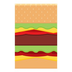 Vector Burger Time Background Shower Curtain 48  X 72  (small)  by Simbadda