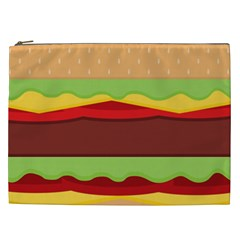 Vector Burger Time Background Cosmetic Bag (xxl)  by Simbadda