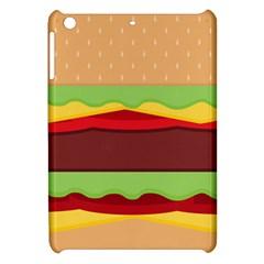 Vector Burger Time Background Apple Ipad Mini Hardshell Case by Simbadda