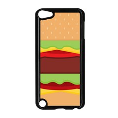 Vector Burger Time Background Apple Ipod Touch 5 Case (black) by Simbadda