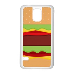 Vector Burger Time Background Samsung Galaxy S5 Case (white) by Simbadda