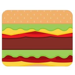 Vector Burger Time Background Double Sided Flano Blanket (medium)  by Simbadda