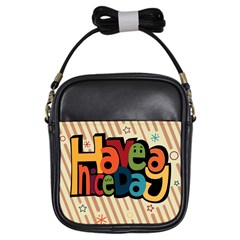 Have A Nice Happiness Happy Day Girls Sling Bags by Simbadda