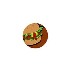 Burger Double 1  Mini Buttons by Simbadda
