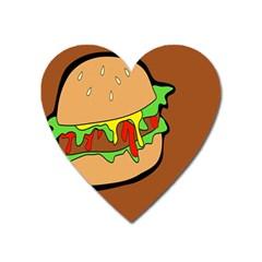 Burger Double Heart Magnet by Simbadda