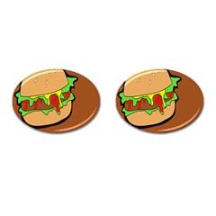 Burger Double Cufflinks (oval) by Simbadda