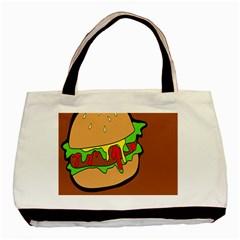 Burger Double Basic Tote Bag by Simbadda