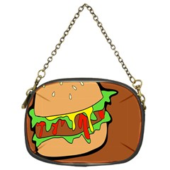 Burger Double Chain Purses (two Sides)  by Simbadda