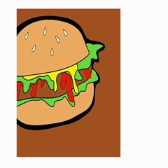 Burger Double Large Garden Flag (two Sides) by Simbadda