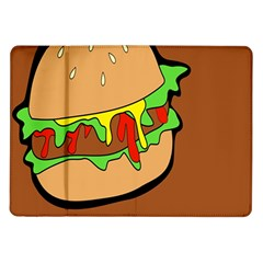 Burger Double Samsung Galaxy Tab 10 1  P7500 Flip Case by Simbadda