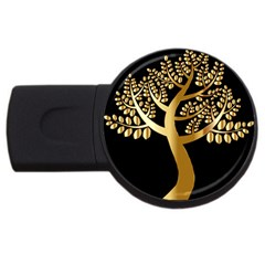 Abstract Art Floral Forest Usb Flash Drive Round (2 Gb) by Simbadda