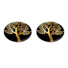 Abstract Art Floral Forest Cufflinks (oval) by Simbadda