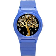 Abstract Art Floral Forest Round Plastic Sport Watch (s) by Simbadda