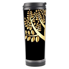 Abstract Art Floral Forest Travel Tumbler by Simbadda