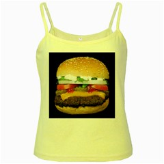Abstract Barbeque Bbq Beauty Beef Yellow Spaghetti Tank by Simbadda