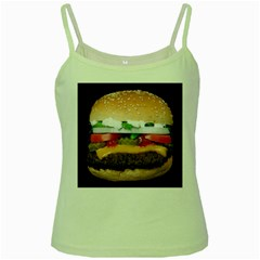 Abstract Barbeque Bbq Beauty Beef Green Spaghetti Tank by Simbadda
