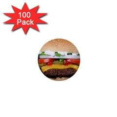 Abstract Barbeque Bbq Beauty Beef 1  Mini Buttons (100 Pack)  by Simbadda