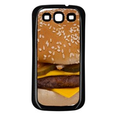 Cheeseburger On Sesame Seed Bun Samsung Galaxy S3 Back Case (black)