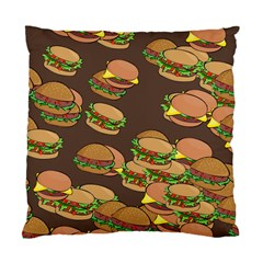 A Fun Cartoon Cheese Burger Tiling Pattern Standard Cushion Case (two Sides) by Simbadda