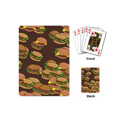 A Fun Cartoon Cheese Burger Tiling Pattern Playing Cards (mini)  by Simbadda