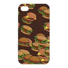 A Fun Cartoon Cheese Burger Tiling Pattern Apple Iphone 4/4s Premium Hardshell Case by Simbadda