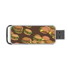 A Fun Cartoon Cheese Burger Tiling Pattern Portable Usb Flash (two Sides) by Simbadda
