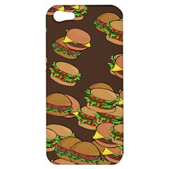 A Fun Cartoon Cheese Burger Tiling Pattern Apple Iphone 5 Hardshell Case by Simbadda