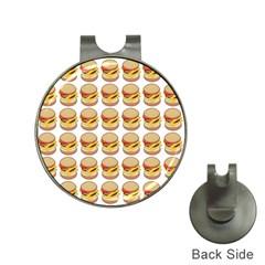 Hamburger Pattern Hat Clips With Golf Markers by Simbadda