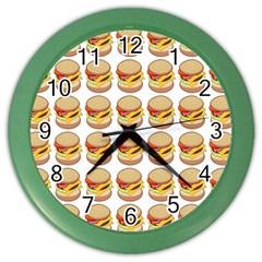 Hamburger Pattern Color Wall Clocks by Simbadda