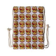 Hamburger Pattern Drawstring Bag (small) by Simbadda