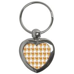 Hamburger Pattern Key Chains (heart)  by Simbadda