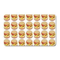 Hamburger Pattern Magnet (rectangular) by Simbadda