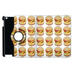 Hamburger Pattern Apple Ipad 2 Flip 360 Case by Simbadda