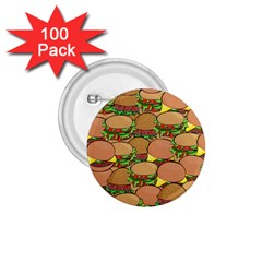 Burger Double Border 1 75  Buttons (100 Pack)  by Simbadda