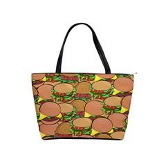 Burger Double Border Shoulder Handbags by Simbadda