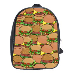 Burger Double Border School Bags(large)  by Simbadda