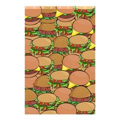 Burger Double Border Shower Curtain 48  X 72  (small)  by Simbadda