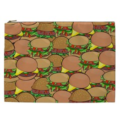Burger Double Border Cosmetic Bag (xxl)  by Simbadda