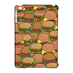 Burger Double Border Apple Ipad Mini Hardshell Case (compatible With Smart Cover) by Simbadda
