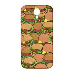 Burger Double Border Samsung Galaxy S4 I9500/i9505  Hardshell Back Case by Simbadda