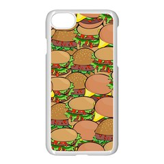 Burger Double Border Apple Iphone 7 Seamless Case (white) by Simbadda