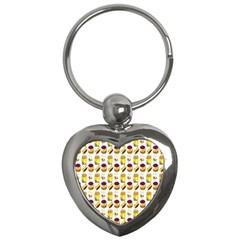 Hamburger And Fries Key Chains (heart)  by Simbadda