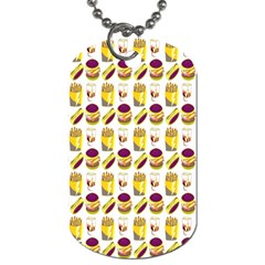 Hamburger And Fries Dog Tag (two Sides) by Simbadda