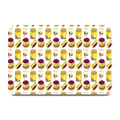 Hamburger And Fries Plate Mats by Simbadda