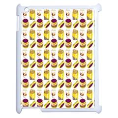 Hamburger And Fries Apple Ipad 2 Case (white) by Simbadda