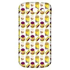 Hamburger And Fries Samsung Galaxy S3 S Iii Classic Hardshell Back Case by Simbadda