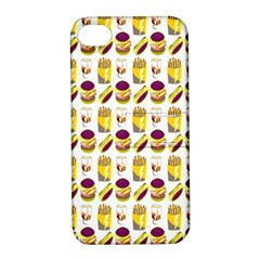 Hamburger And Fries Apple Iphone 4/4s Hardshell Case With Stand by Simbadda