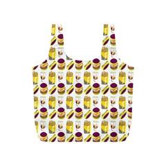 Hamburger And Fries Full Print Recycle Bags (s)  by Simbadda